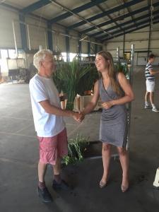 Joyce & Piet, 150 bosjes mini gladiolen voor ALS (4)
